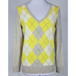 Joe Fresh Argyle Sweater Women's M Lambswool